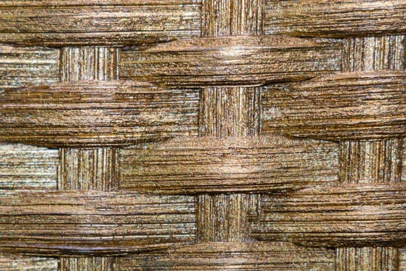Texture tressée de tissu d'or photos libres de droits