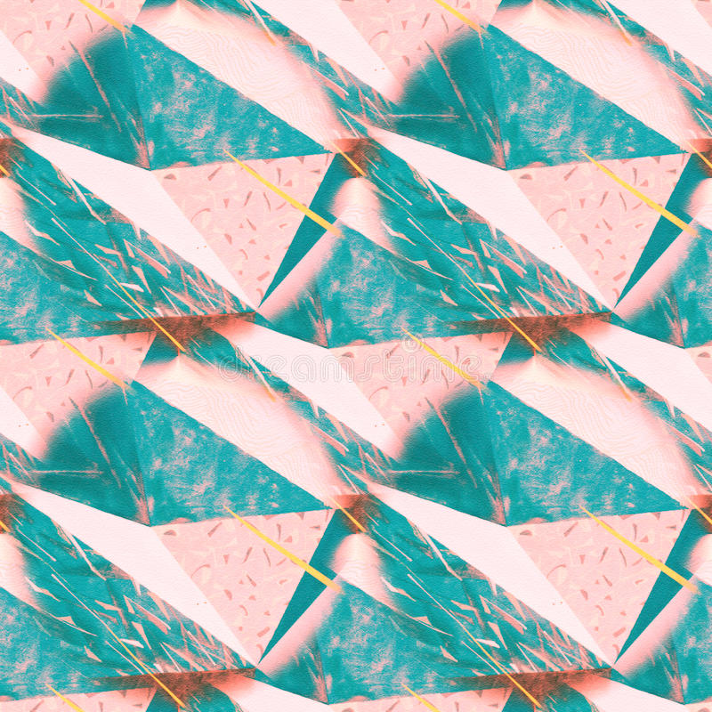 Texture triangulaire de fond fripée par résumé Modèle polygonal sans couture pour votre conception Calibre créatif illustration libre de droits