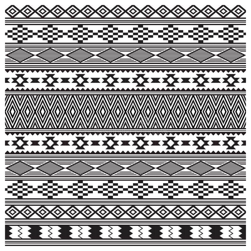 Texture tribale d'Indiens d'Amerique, modèle sans couture illustration de vecteur
