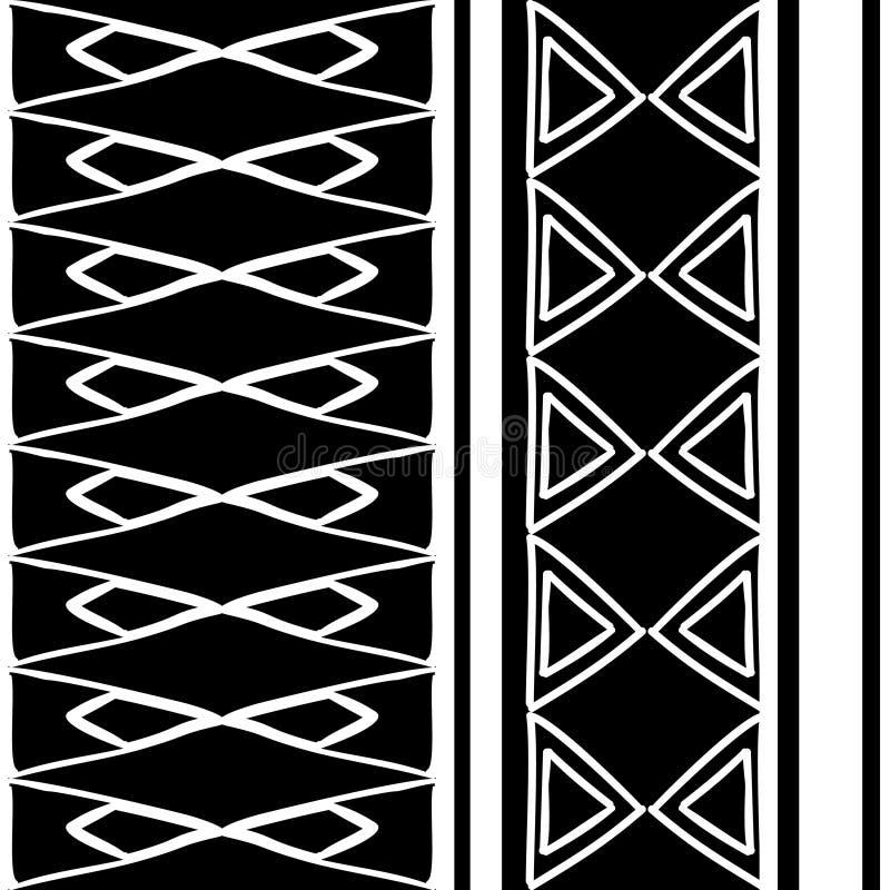 Texture tribale de mod?le avec l'Africain tir? par la main, Azt?que, illustration de dessin cr?ative de vecteur de Maya Mod?les n illustration libre de droits