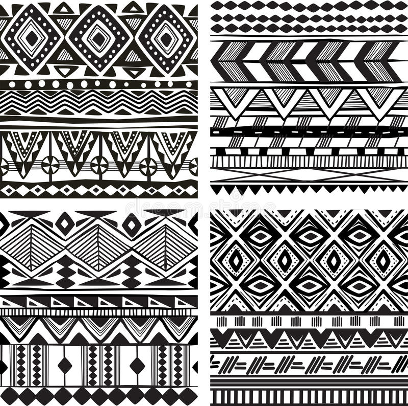 Texture tribale sans couture illustration stock