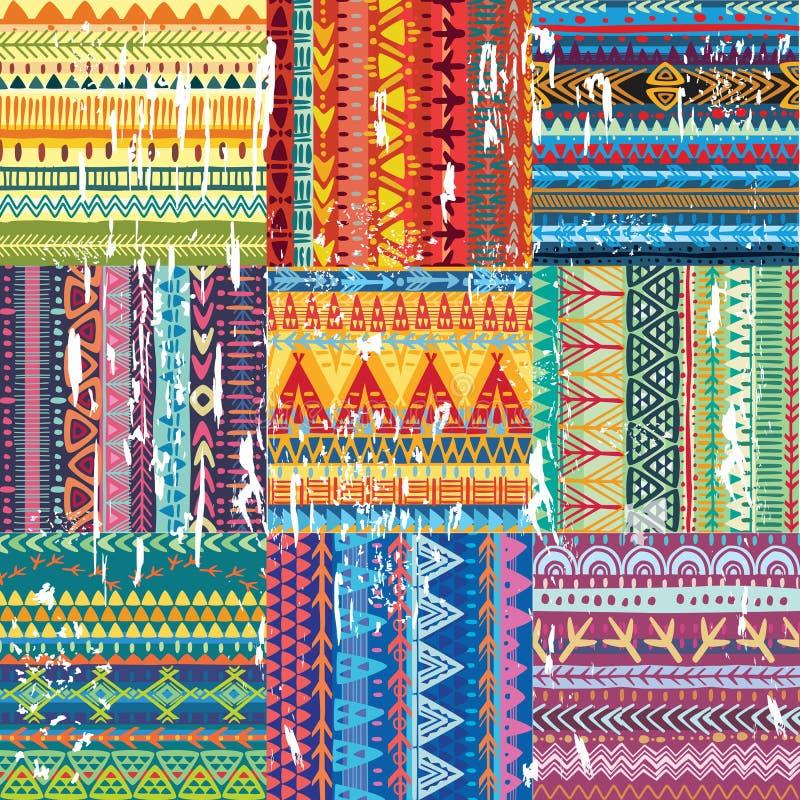 Texture tribale sans couture de couleur illustration libre de droits