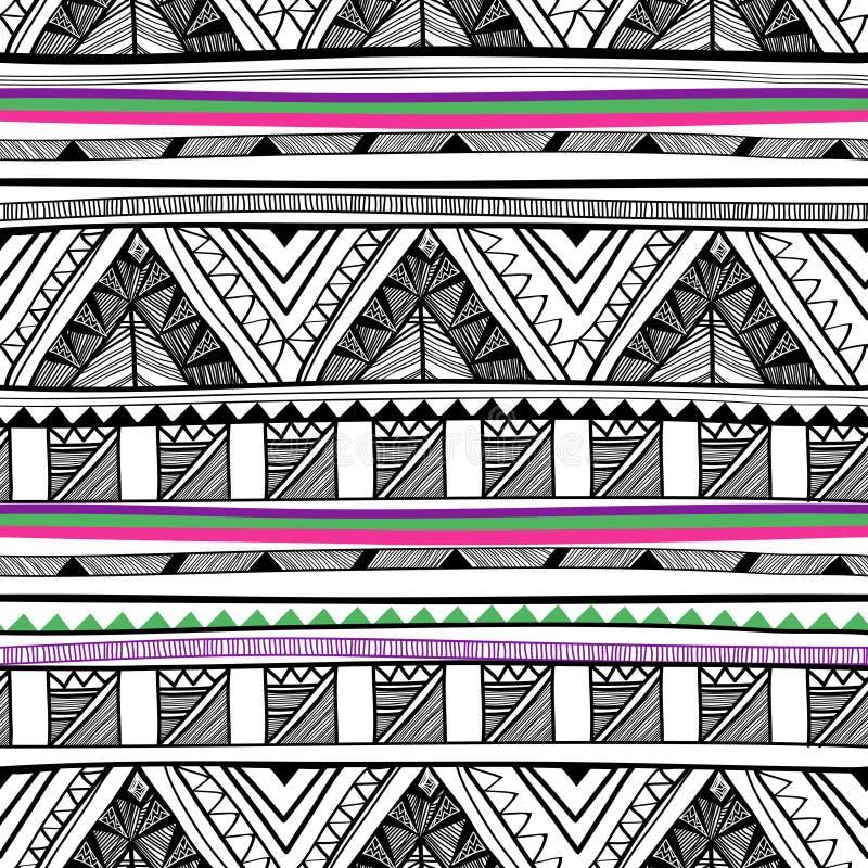 Texture tribale sans joint de vecteur illustration stock