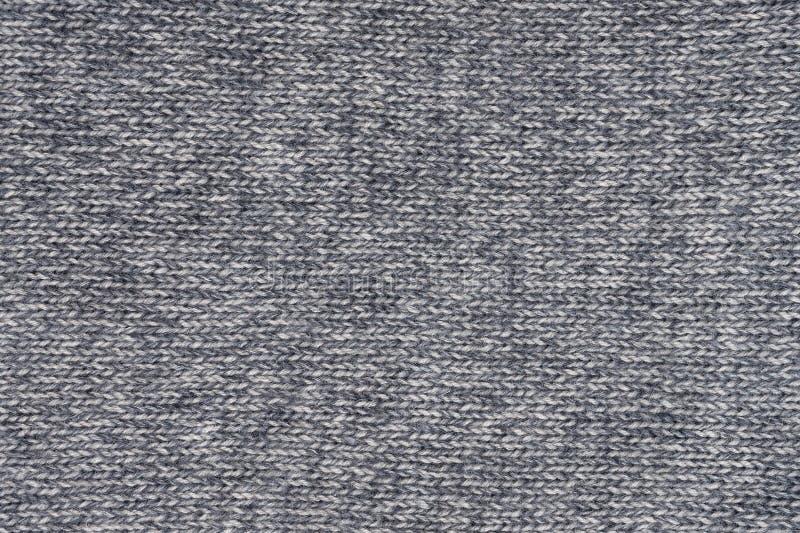 Texture tricotée de laine grise avec piquer horizontal images libres de droits