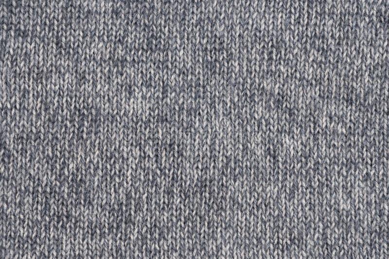 Texture tricotée de laine grise avec piquer vertical image libre de droits