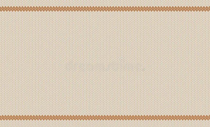 Texture tricotée de mélange de laine, teinte beige d'os d'amande à l'arrière-plan de vecteur illustration stock