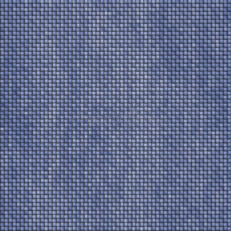 Texture tricotée en tant que fond abstrait de toile, couleur de blues-jean illustration de vecteur