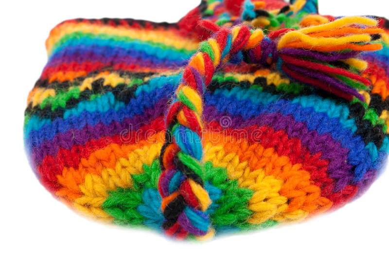 Texture tricotée lumineuse de chapeau photo stock