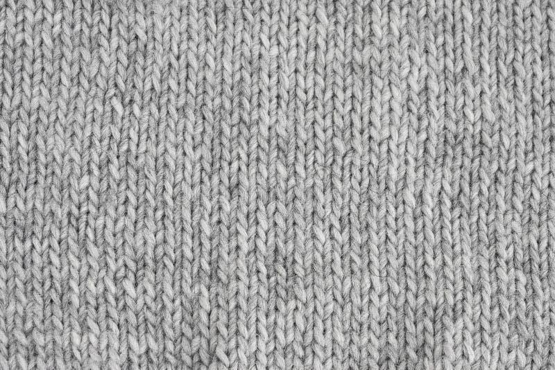 Texture tricotée par gris Tricots faits main Fond image libre de droits