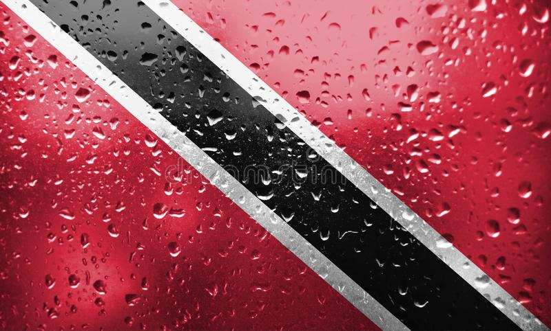 Texture Trinidad and Tobago flag royalty free stock photography