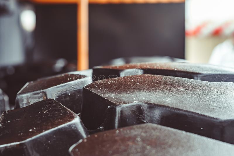 The texture of truck tires stock images