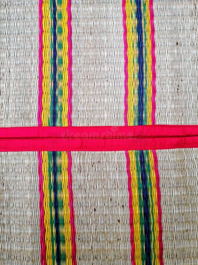 Texture tubulaire thaïlandaise traditionnelle de tapis photo libre de droits