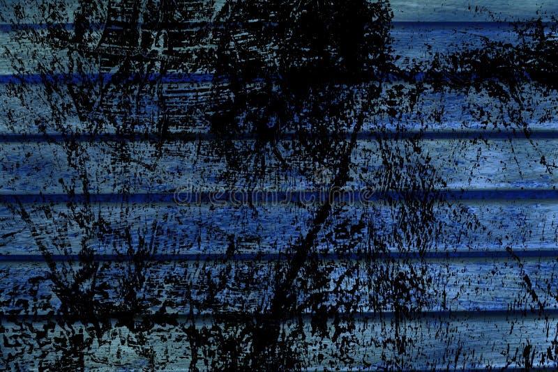 Texture ultra bleue de planche de banc en bois de grunge pour le site Web ou les périphériques mobiles, élément de conception illustration de vecteur
