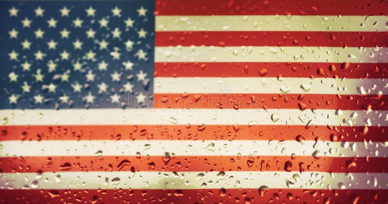Download Texture Of USA Flag Stock Image Raindrop Drops