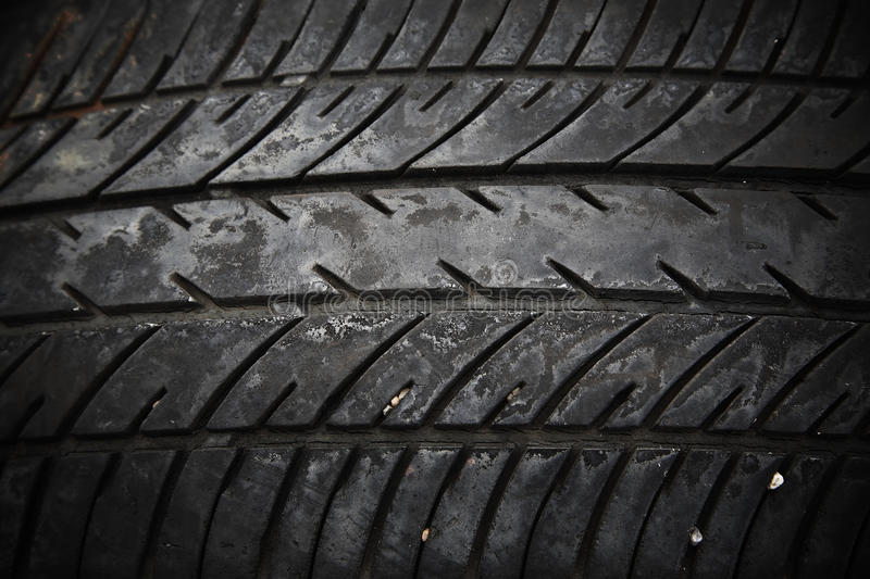 Texture Of Used Car Tire Stock Image Image Of Black