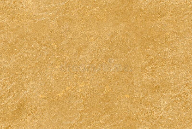 Texture vénitienne sans couture jaune d'or de pierre de fond de plâtre Dessin vénitien traditionnel de modèle de grain de texture photo libre de droits