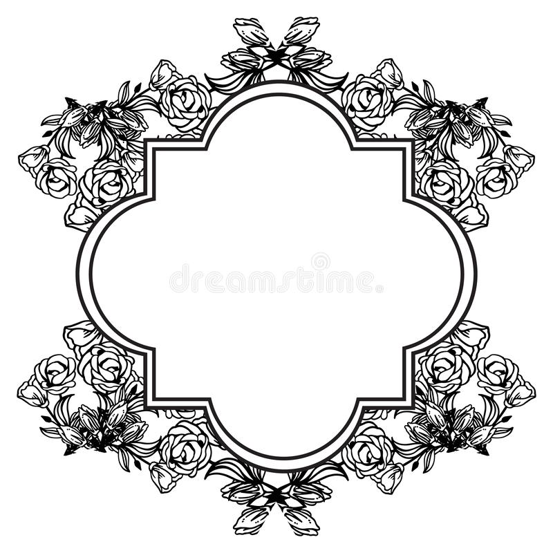 Texture of various card, feature beautiful floral frame. Vector. Illustration royalty free illustration