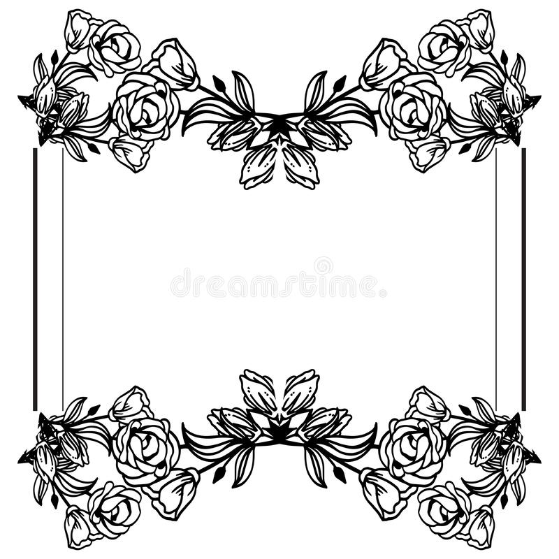 Texture of various card, feature beautiful floral frame. Vector. Illustration vector illustration