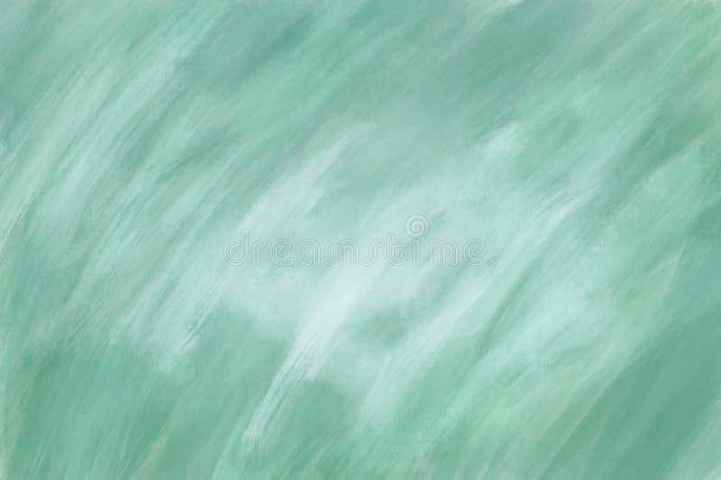 Texture verte abstraite de peinture à l'huile sur la toile, fond photos stock
