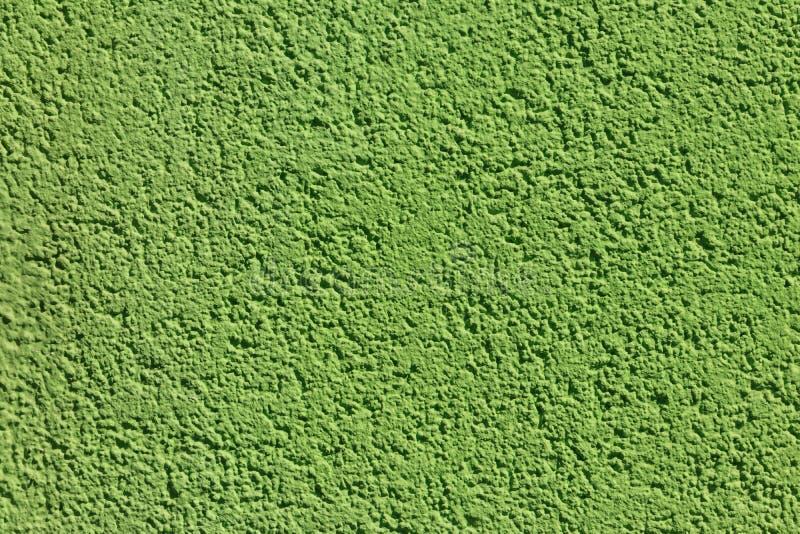 Texture verte décorative de plâtre sur un mur Texture du mur vert de stuc pour le fond photos stock