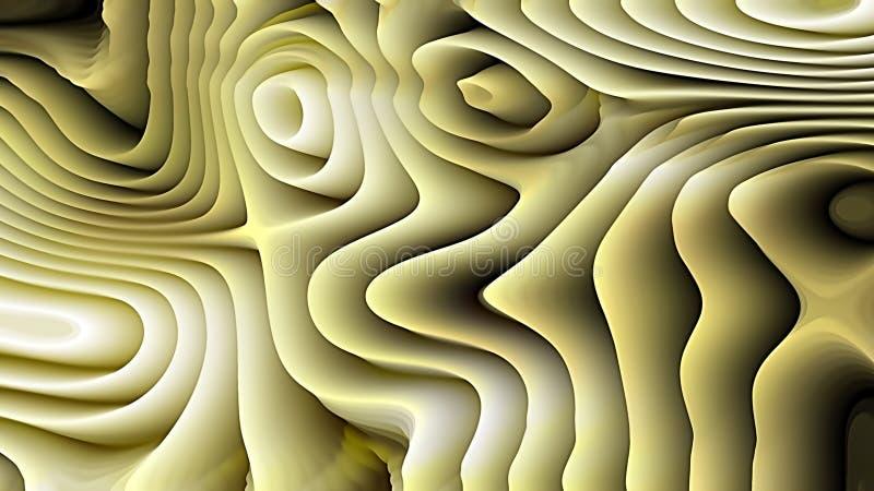 Texture verte et blanche d'ondulation de courbure illustration stock