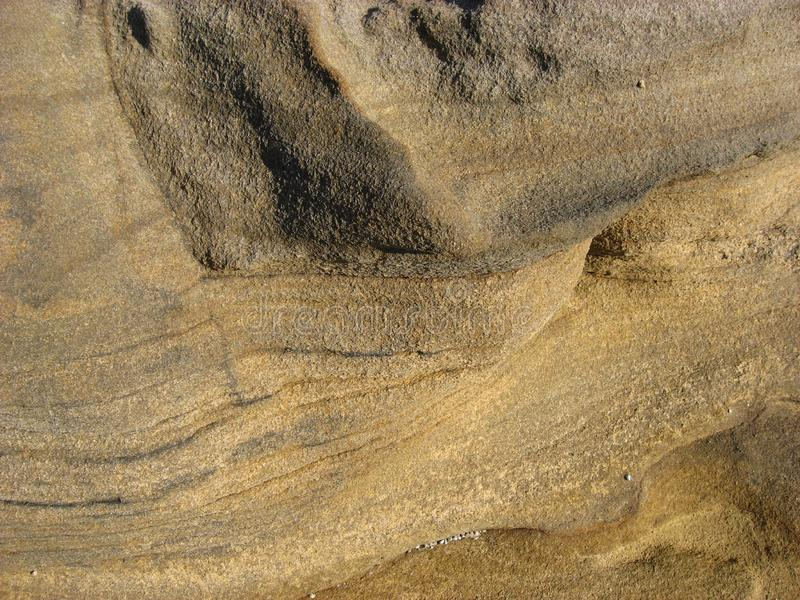 Texture of very weathered seaside rock. stock photo