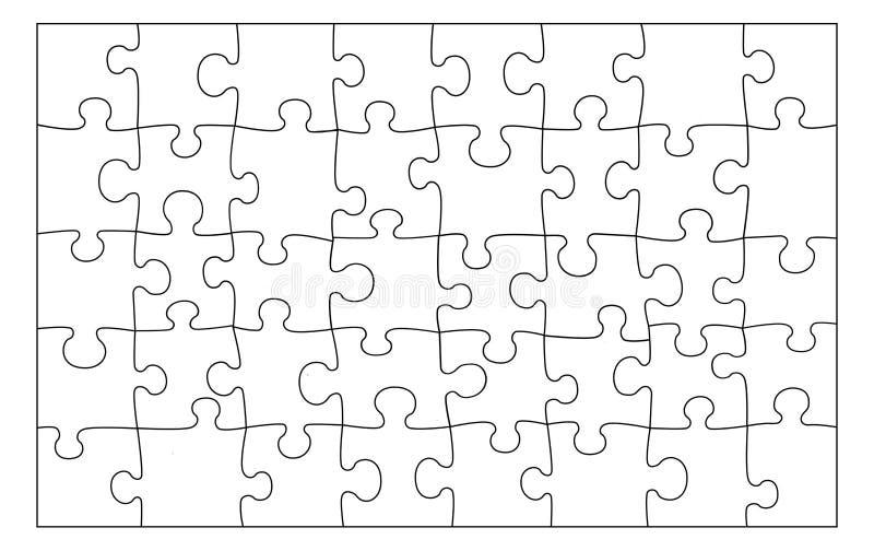 Texture vide de puzzle Lignes noires sur le fond blanc illustration libre de droits