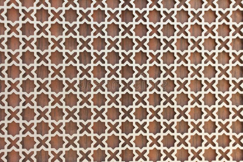 Texture of wall decor. In traditional arabic style stock photos
