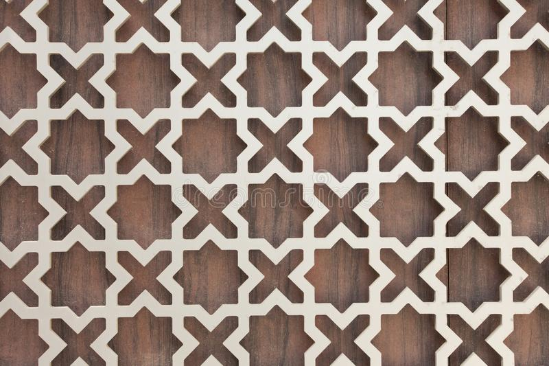 Texture of wall decor. In traditional arabic style royalty free stock image