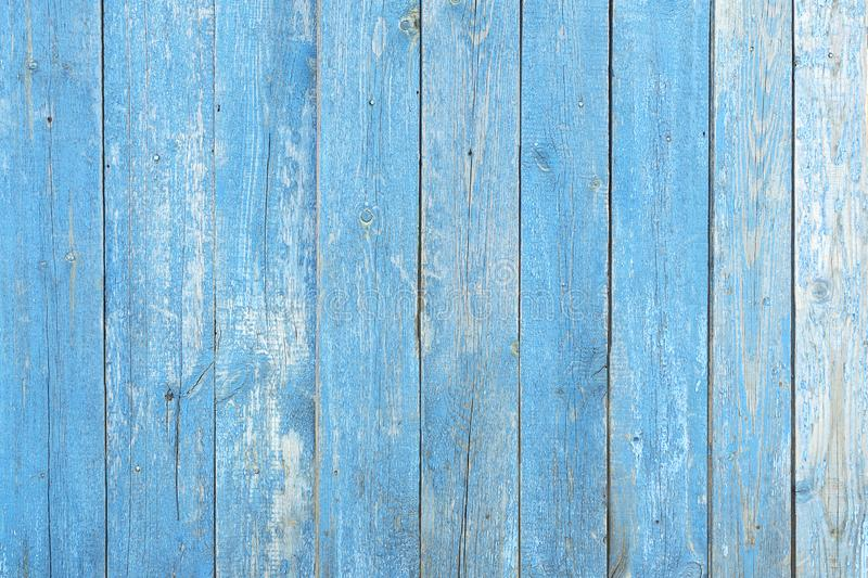 Texture wall wooden blue background. Background of the tree, planks blue color, free without objects. Fence harvesting. Wood horizontal boards wall royalty free stock image