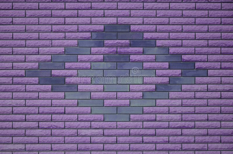 Modern weathered colored slate brick wall texture royalty free illustration