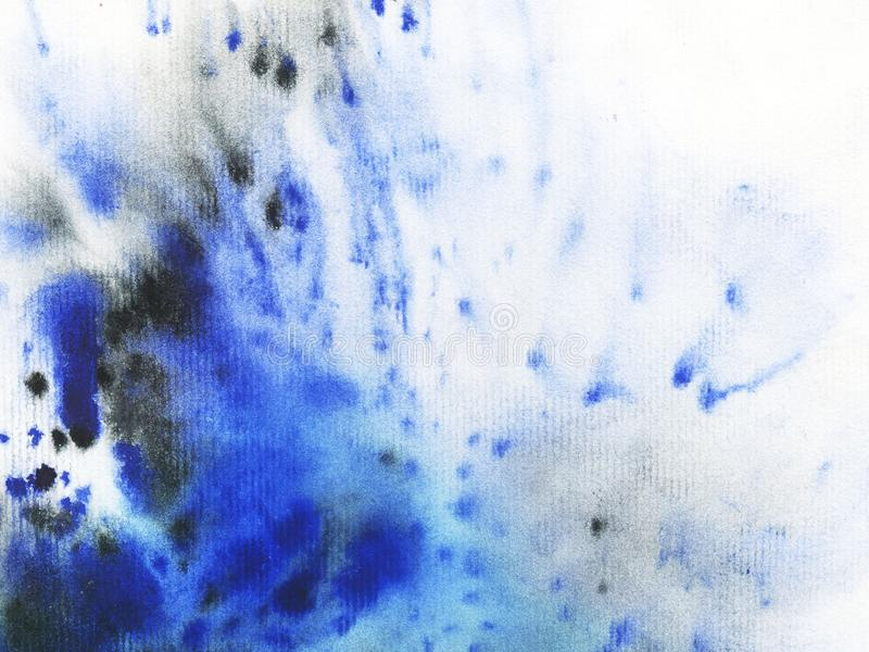 Texture watercolor blue and indigo royalty free illustration