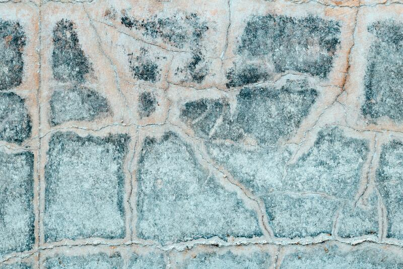Texture of weathered cracked concrete wall royalty free stock photo