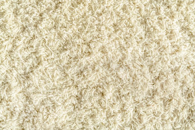 Texture of white carpet with long pile royalty free stock images