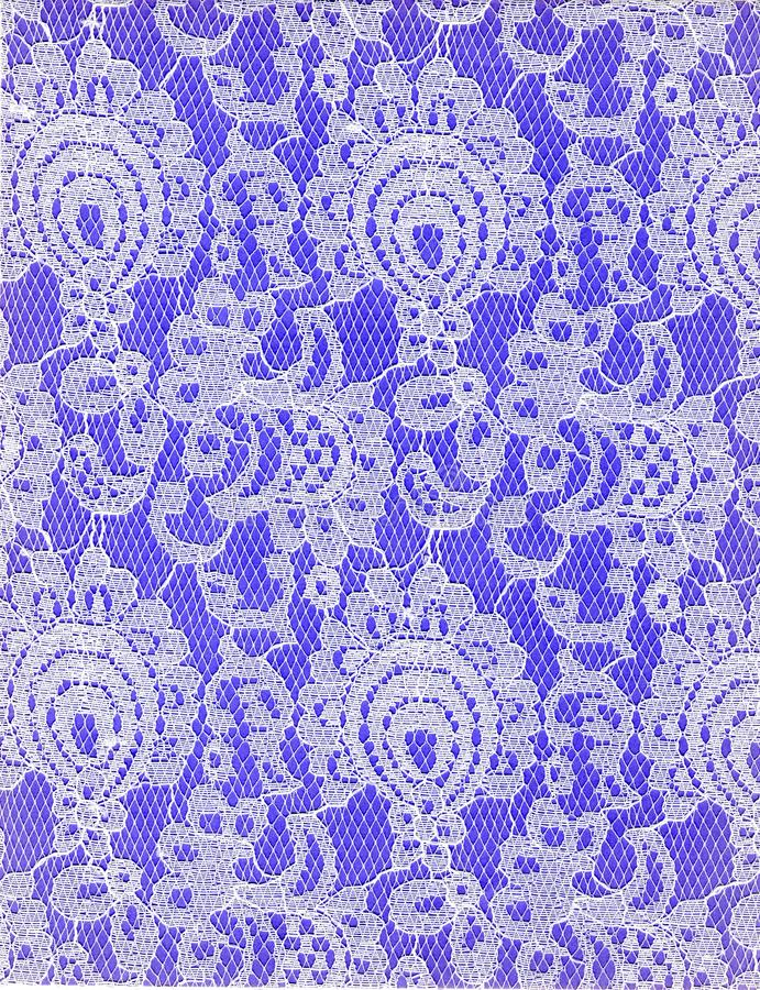 Texture White Lace Pattern Purple Background stock photos