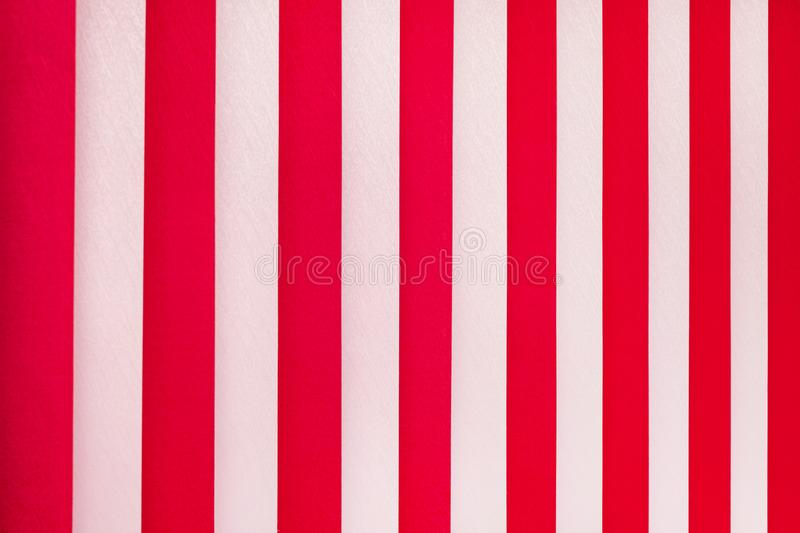 Texture of white and red stripes. Vertical blinds on window_ stock photo