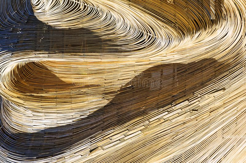 Texture of a wicker roof in a restaurant royalty free stock photos