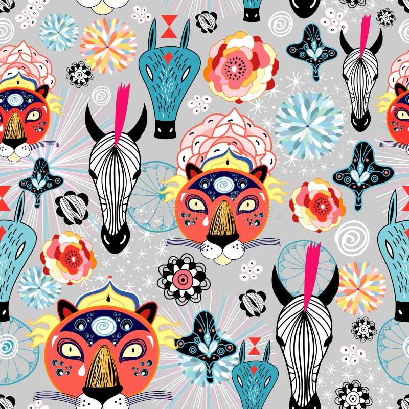 Texture of wild animals royalty free illustration