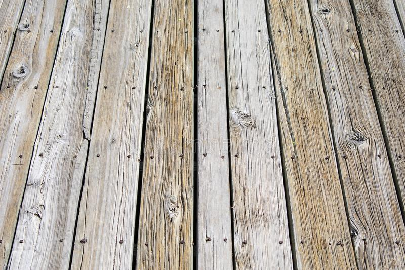 Texture of Wood Decking and Screws. Texture image of some weathered decking. Taken near Pueblo Colorado along the Arkansas River royalty free stock images