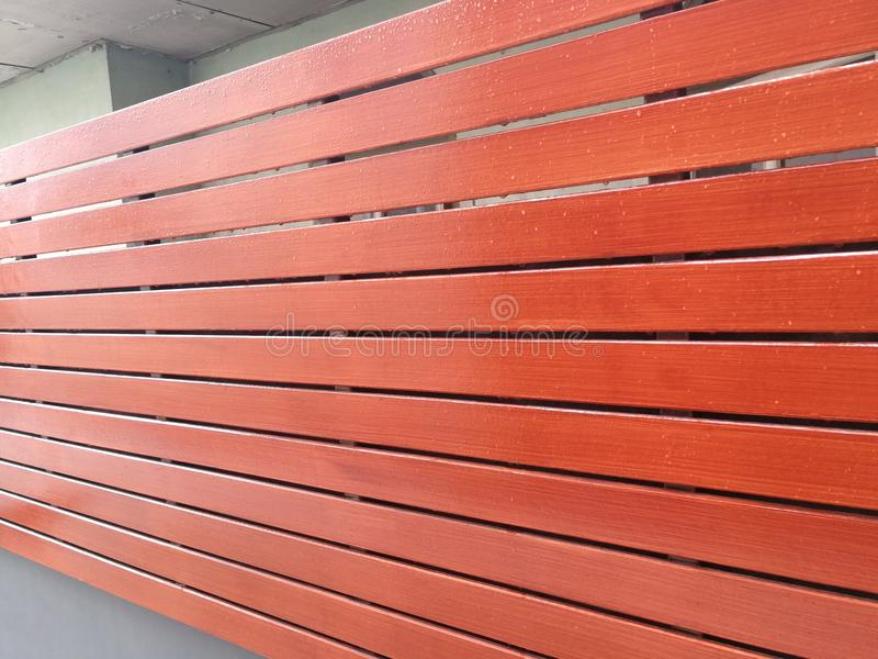 Texture of wood lath wall background stock images
