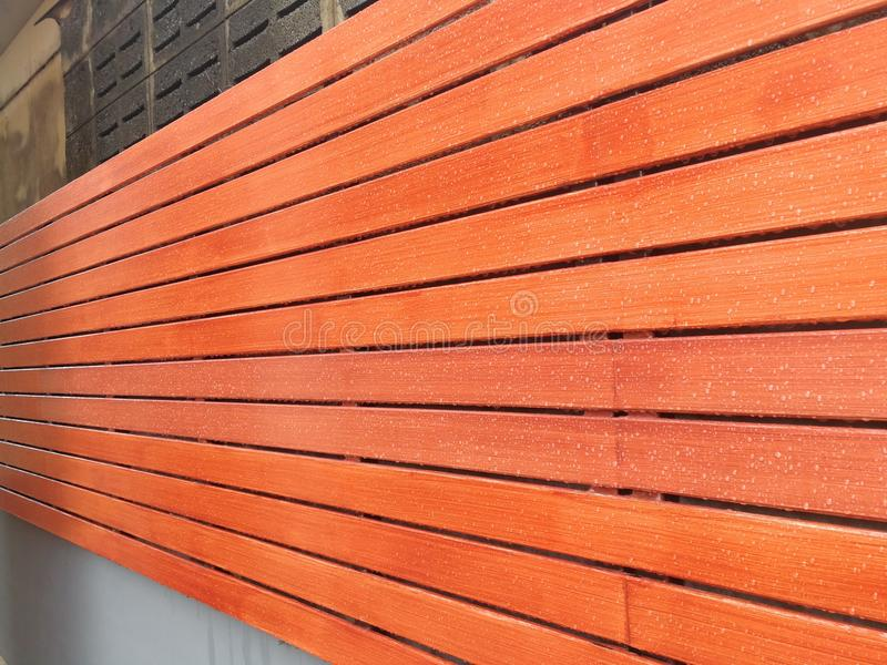 Texture of wood lath wall background royalty free stock image