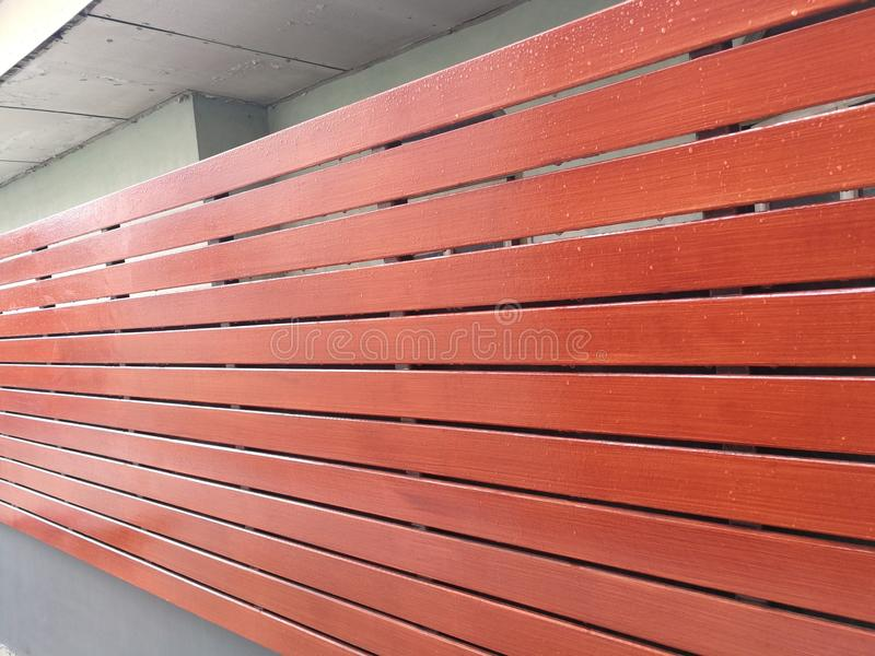 Texture of wood lath wall background stock photography