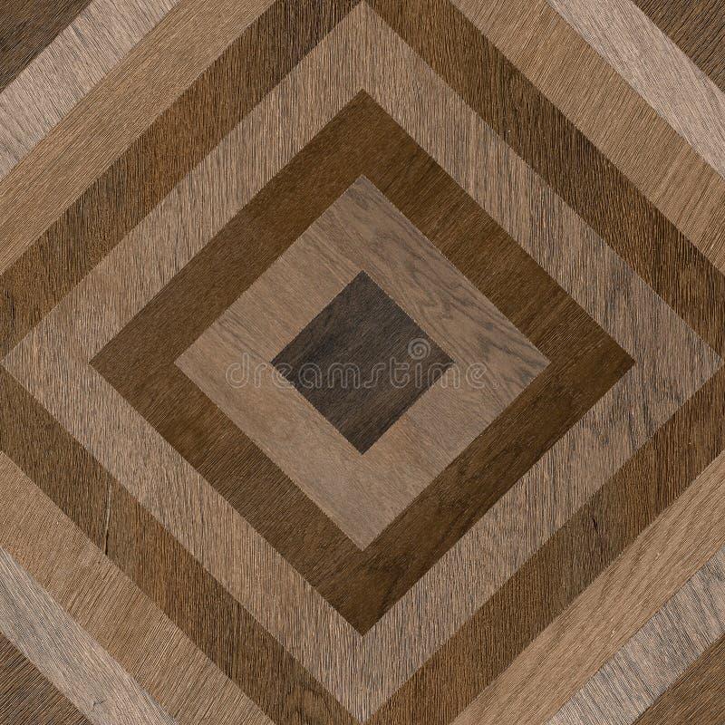 Geometric floor shape wood decore tile royalty free stock photo