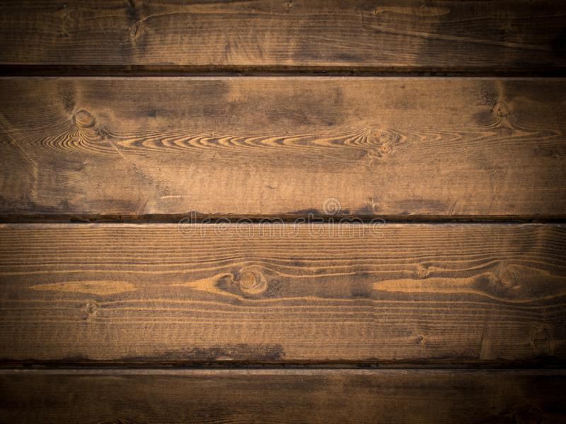 Texture of wood planks with vignette stock photos