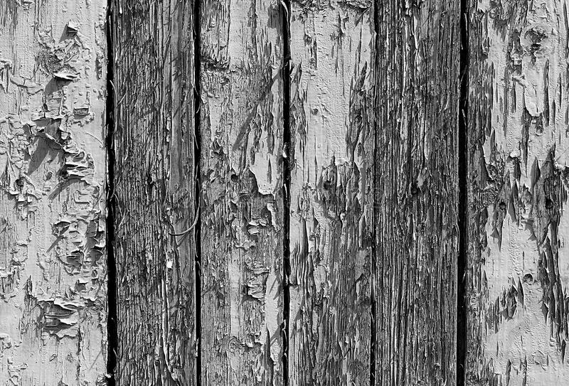 Texture wooden boards with shabby paint black and white stock photos