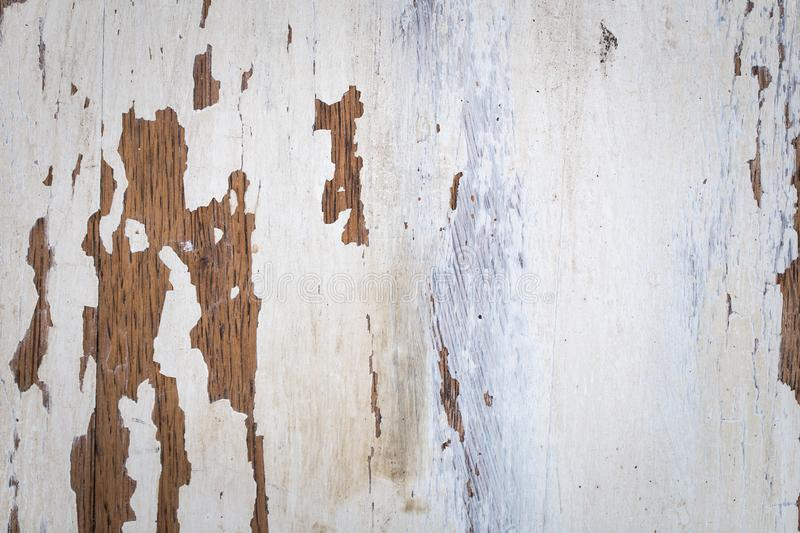 Texture of a wooden surface with white cracked paint royalty free stock photos
