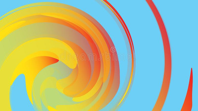 The texture is yellow abstract, the background of cosmic energetic magical beautiful bright multicolored bubbles stock illustration