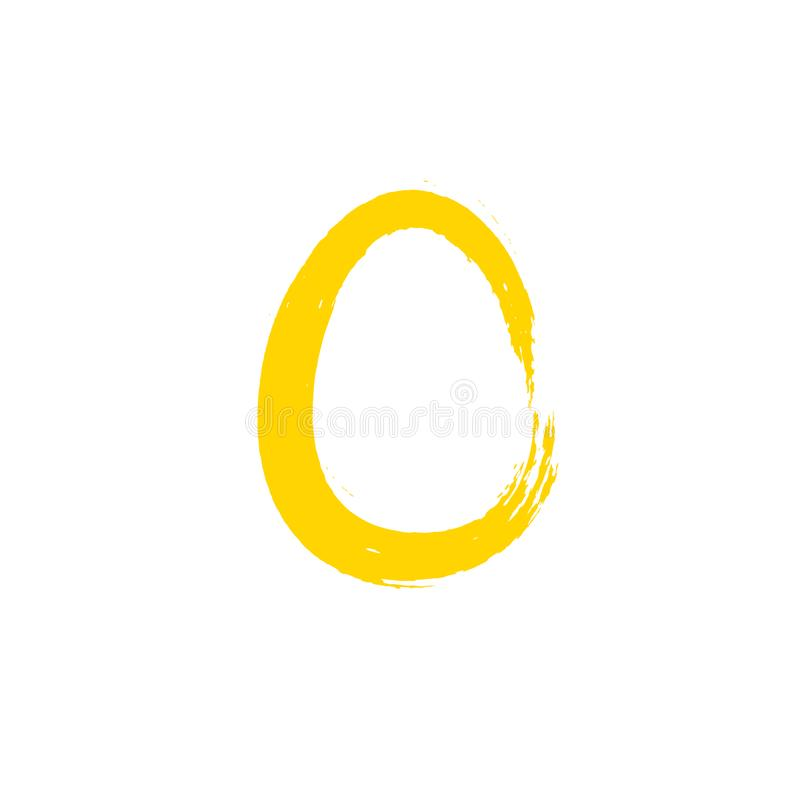 Texture yellow color smear paint on white background vector illustration
