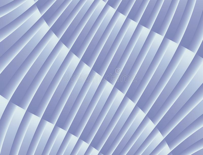 Textured Abstract Curves and Lines Geometric Diagonal Background Design Blue White royalty free illustration