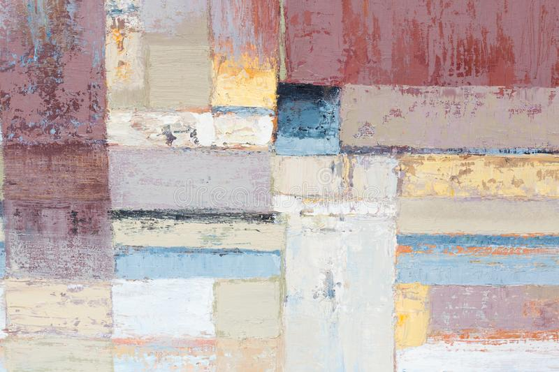 Textured abstract painting. Hand painted background. Different houses. High resolution photo stock photography